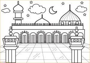 Gambar Mewarnai Masjid Nabawi 30 Marimewarnai