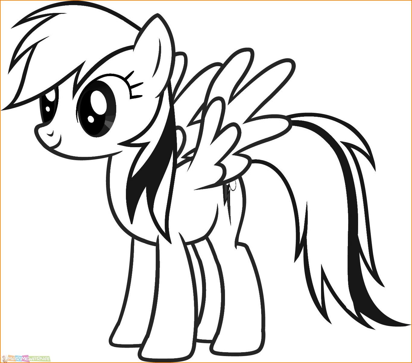 29 Gambar Mewarnai My Little Pony Anak 2020 Marimewarnai Com
