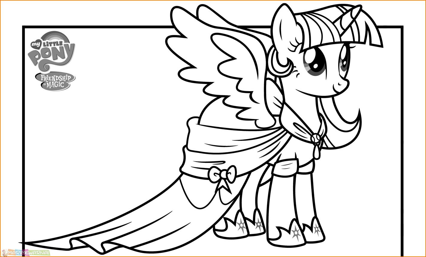 Berlatih Mewarnai Gambar Contoh Gambar Mewarnai My Little Pony