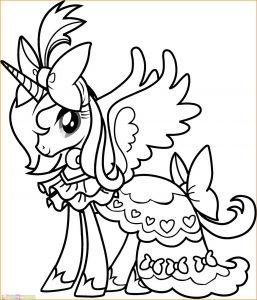 Gambar Mewarnai My Little Pony 28 Marimewarnai