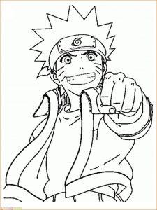 Gambar Mewarnai Naruto 01 Marimewarnai