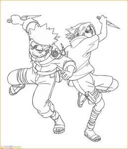 Gambar Mewarnai Naruto 08 Marimewarnai