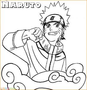 Gambar Mewarnai Naruto 10 Marimewarnai