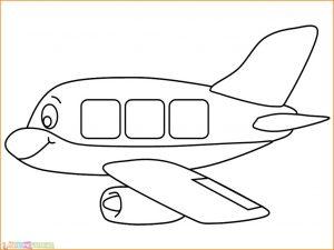 Gambar Mewarnai Pesawat 03 MariMewarnai