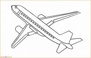 Gambar Mewarnai Pesawat 04 MariMewarnai
