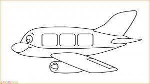 Gambar Mewarnai Pesawat 05 MariMewarnai