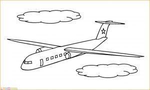 Gambar Mewarnai Pesawat 06 MariMewarnai