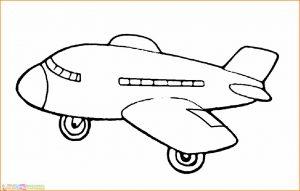 Gambar Mewarnai Pesawat 07 MariMewarnai