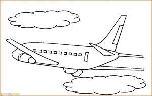 Gambar Mewarnai Pesawat 08 MariMewarnai