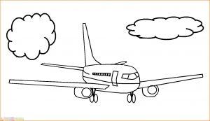 Gambar Mewarnai Pesawat 09 MariMewarnai