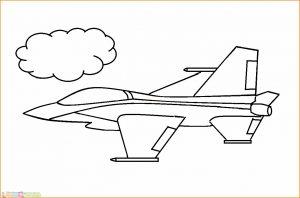 Gambar Mewarnai Pesawat 10 MariMewarnai