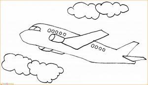 Gambar Mewarnai Pesawat 11 MariMewarnai