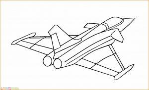 Gambar Mewarnai Pesawat 13 MariMewarnai