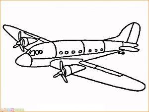 Gambar Mewarnai Pesawat 15 MariMewarnai