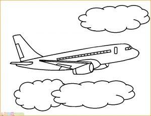 Gambar Mewarnai Pesawat 16 MariMewarnai