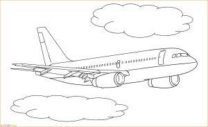 Gambar Mewarnai Pesawat 18 MariMewarnai