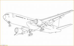 Gambar Mewarnai Pesawat 21 MariMewarnai