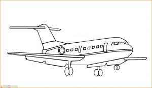 Gambar Mewarnai Pesawat 22 MariMewarnai