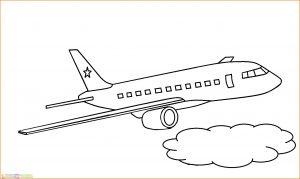 Gambar Mewarnai Pesawat 23 MariMewarnai