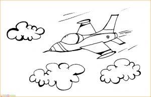 Gambar Mewarnai Pesawat 24 MariMewarnai
