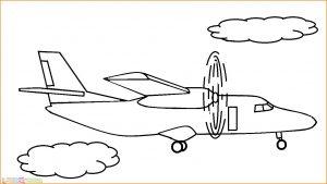Gambar Mewarnai Pesawat 25 MariMewarnai
