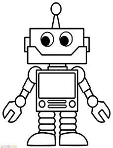 Gambar Mewarnai Robot 02 Marimewarnai