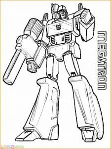 Gambar Mewarnai Robot 04 Marimewarnai
