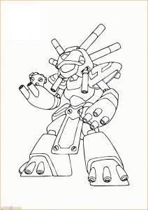 Gambar Mewarnai Robot 10 Marimewarnai