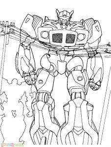 Gambar Mewarnai Robot 12 Marimewarnai