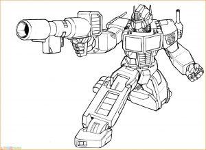 Gambar Mewarnai Robot 17 Marimewarnai