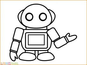 Gambar Mewarnai Robot 21 Marimewarnai