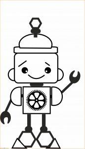 Gambar Mewarnai Robot 22 Marimewarnai