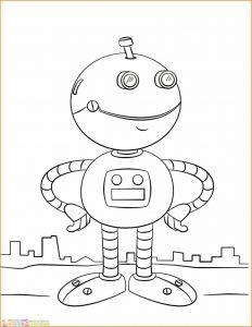 Gambar Mewarnai Robot 26 Marimewarnai
