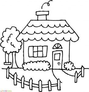 Gambar Mewarnai Rumah 08 Marimewarnai