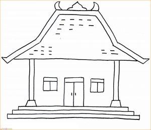 Gambar Mewarnai Rumah Adat 01 Marimewarnai