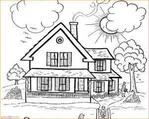 Gambar Mewarnai Rumah Adat 11 Marimewarnai