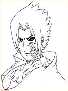 Gambar Mewarnai Sasuke 01 Marimewarnai