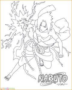 Gambar Mewarnai Sasuke 03 Marimewarnai