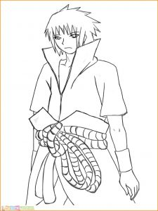 Gambar Mewarnai Sasuke 04 Marimewarnai