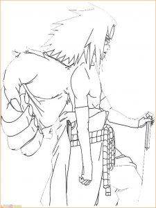 Gambar Mewarnai Sasuke 05 Marimewarnai