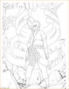 Gambar Mewarnai Sasuke 06 Marimewarnai