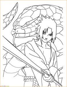 Gambar Mewarnai Sasuke 07 Marimewarnai