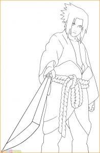 Gambar Mewarnai Sasuke 08 Marimewarnai