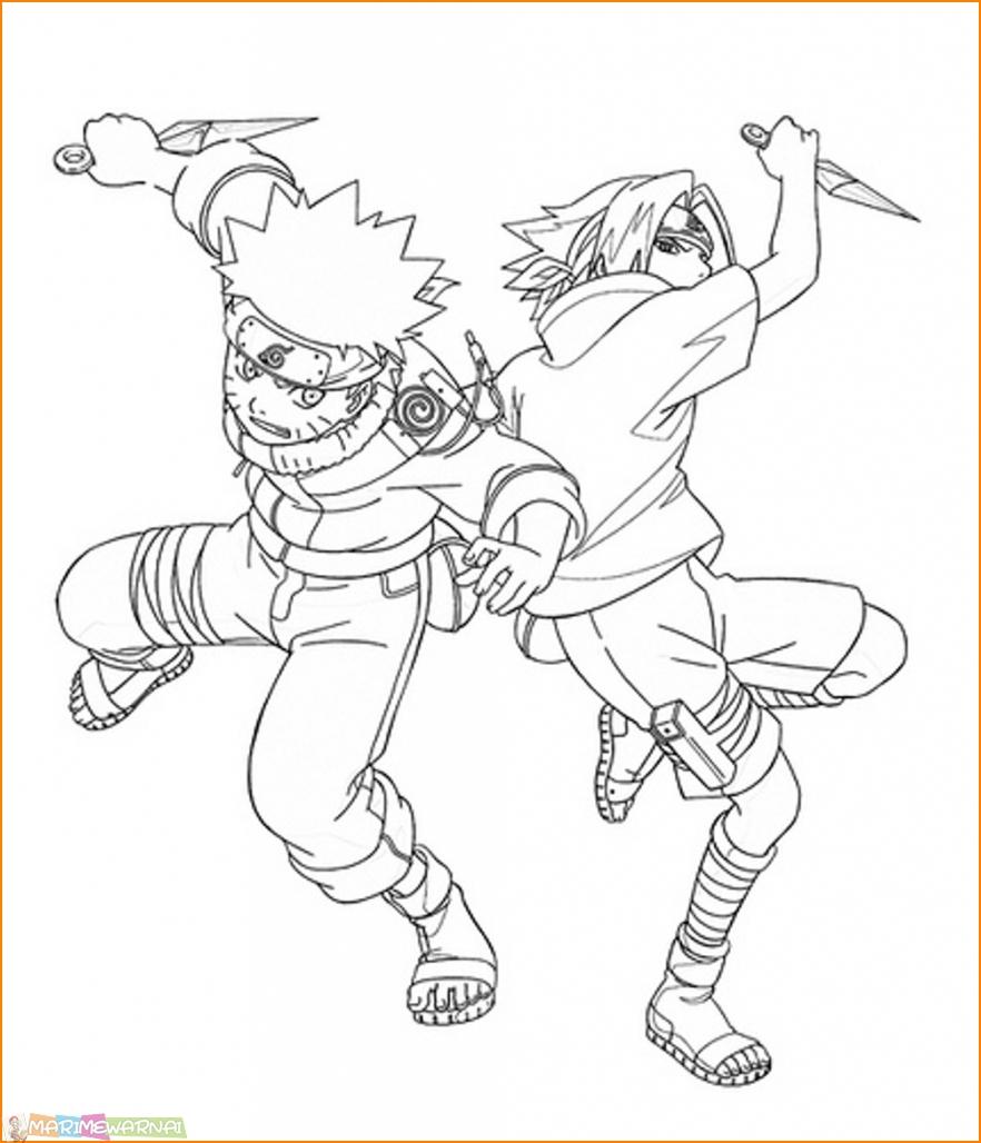 20 Gambar Mewarnai Sasuke Terlengkap 2018 Marimewarnai Com