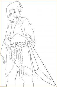 Gambar Mewarnai Sasuke 13 Marimewarnai