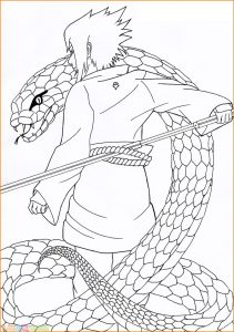 Gambar Mewarnai Sasuke 14 Marimewarnai