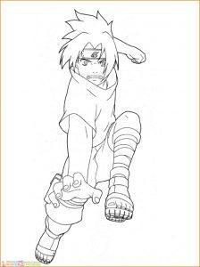 Gambar Mewarnai Sasuke 16 Marimewarnai