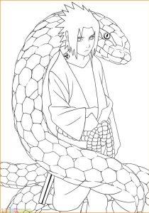 Gambar Mewarnai Sasuke 17 Marimewarnai