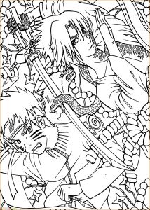 Gambar Mewarnai Sasuke 19 Marimewarnai