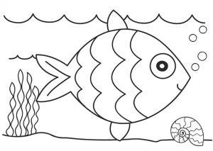 Mewarnai Gambar Binatang Laut Ikan